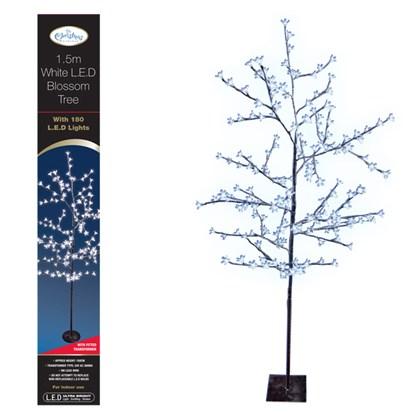 1.5m 180LED Blossom Tree-White