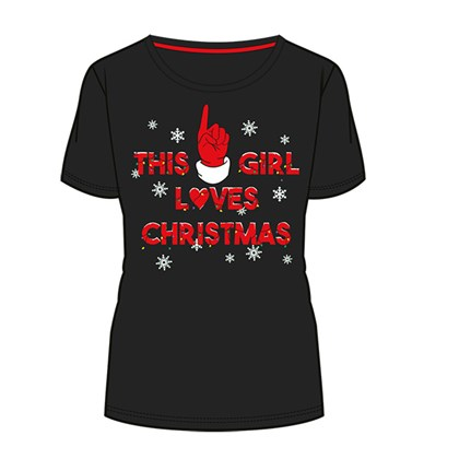 This Girl Loves Christmas Ladies T-Shirt