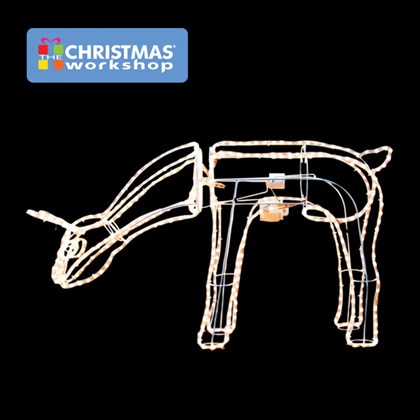 10m 3D Moving Grazing Reindeer- Warm White