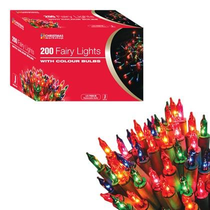 200 Shadeless Multi Colour Fairy Lights