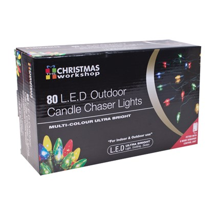 80LED Colour Outdoor Candle Chaser Lights