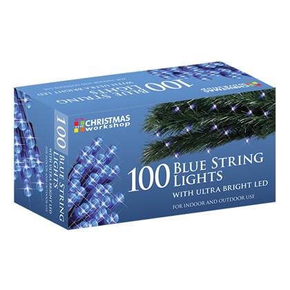 100 Blue LED String Lights