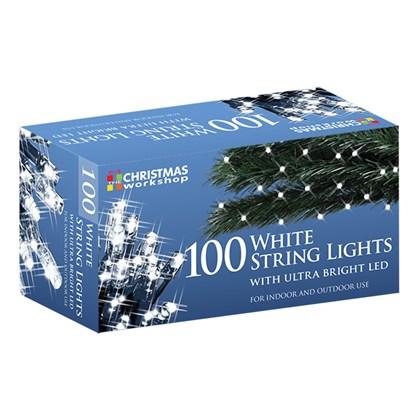 100 Cool White LED String Lights