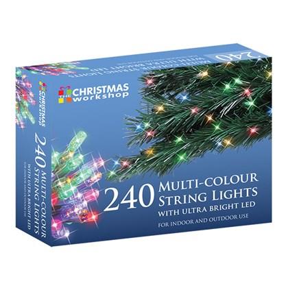 240 Multi Colour LED String Lights