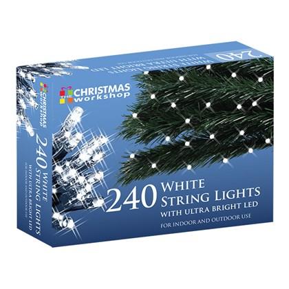 240 White LED String Lights
