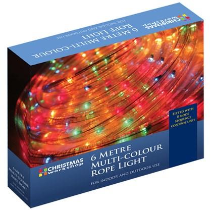 6m Multi-Coloured Chaser Rope Light