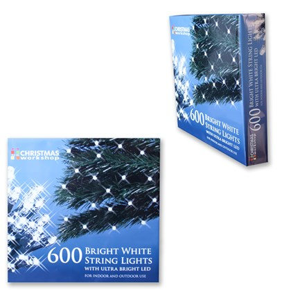 600 White LED String Lights