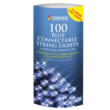 100 LED Connectable Lights - Blue