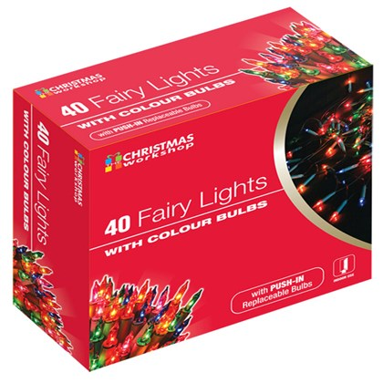 40 Shadeless Multi Colour Fairy Lights