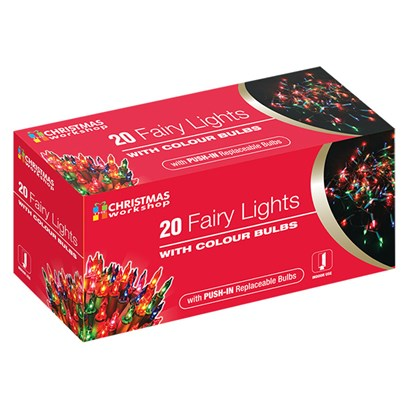 20 Shadeless Multi Colour Fairy Lights