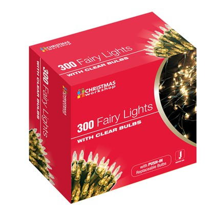 300 Shadeless Clear Fairy Lights