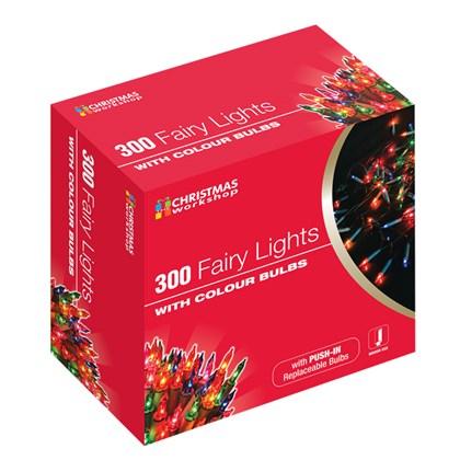 300 Shadeless Colour Fairy Lights