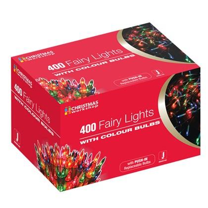 400 Shadeless Multi Colour Fairy Lights