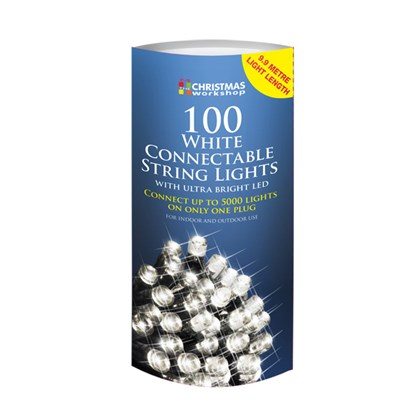 **SEE 75859** 100 LED Connectable Lights-White