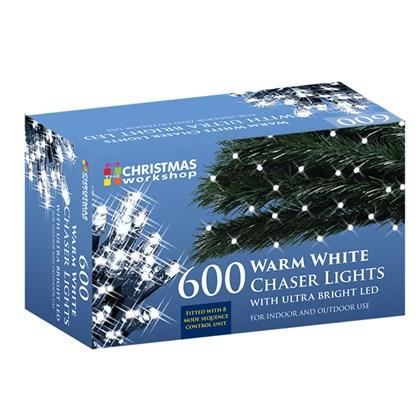 600 LED Warm White Chaser Lights