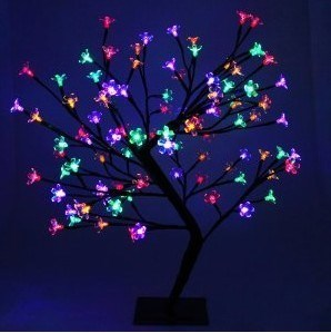 60CM 128 LED  Blossom Tree - Multi Coloured