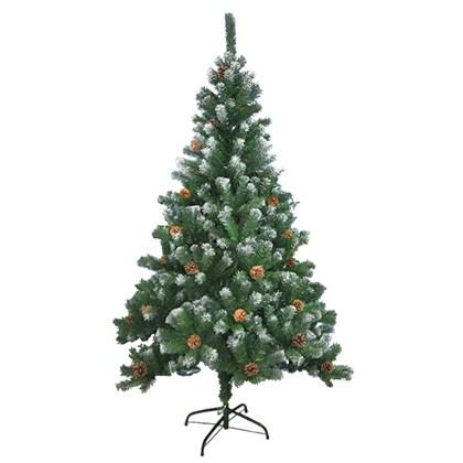 7FT Xmas Tree w/Snow & Cones-Green