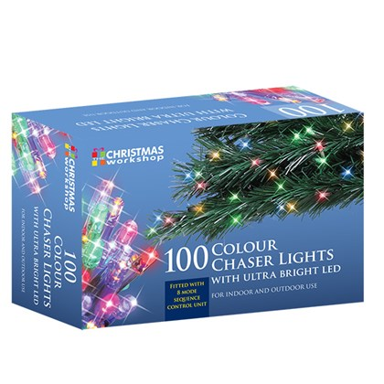 100 LED Multi-Coloured Chaser Lights