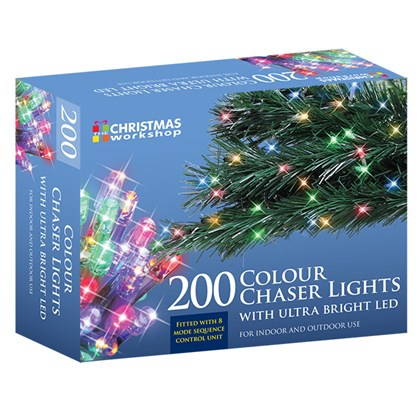 200 LED Multi-Coloured Chaser Lights