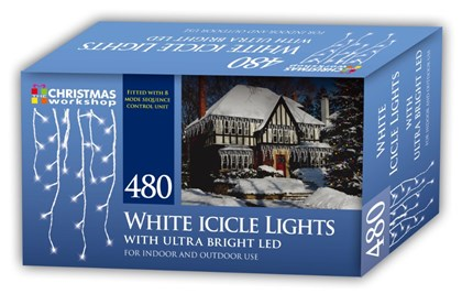 480 LED Icicle Chaser Lights - White