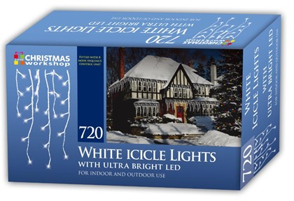 720 LED Icicle Chaser Lights- White