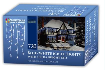 720 LED Icicle Chaser Lights-Blue & White