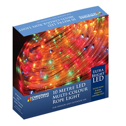 10M LED Multi-Coloured Chaser Rope Light