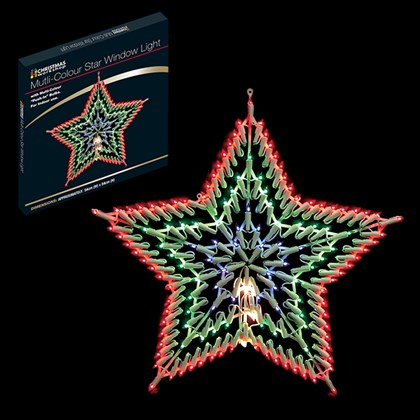 Multi Colour LED Star Silhouette