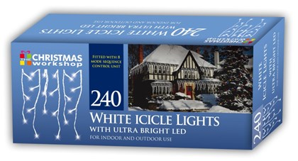 240 LED Icicle Chaser Light - White
