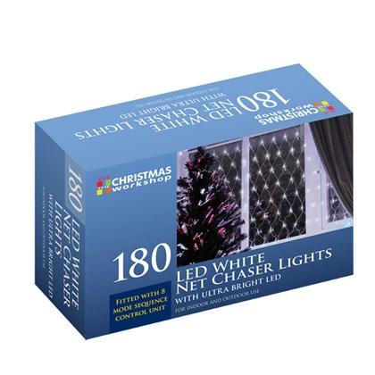 180 LED Net Chaser Lights - White