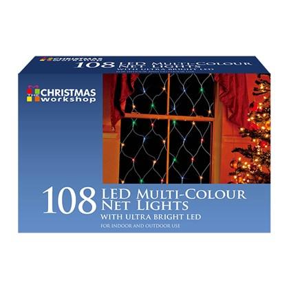 108 LED Net Static Light - Multi Coloured
