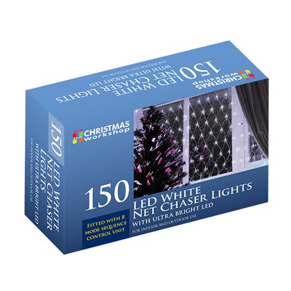 150 LED Net Chaser Lights - White