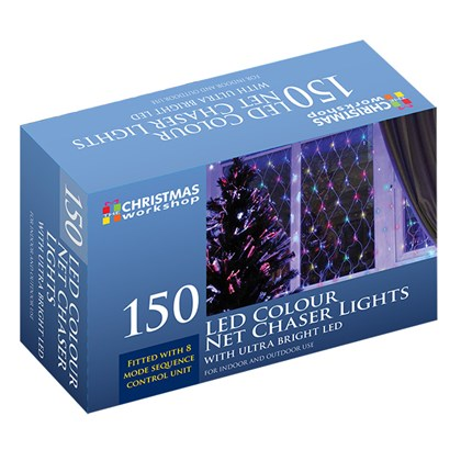 150 LED Net Chaser Light - Multi-Coloured