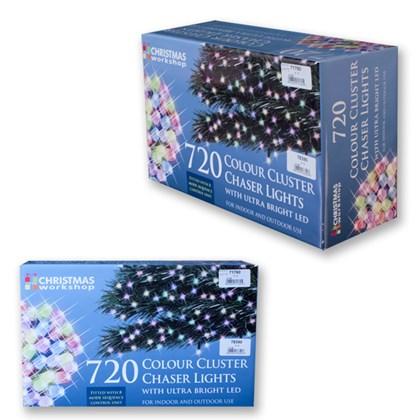 720 LED Multi-Colour Chaser Cluster Light