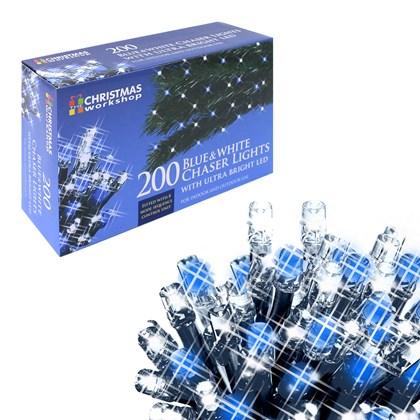 200 LED  Blue & White Chaser Lights