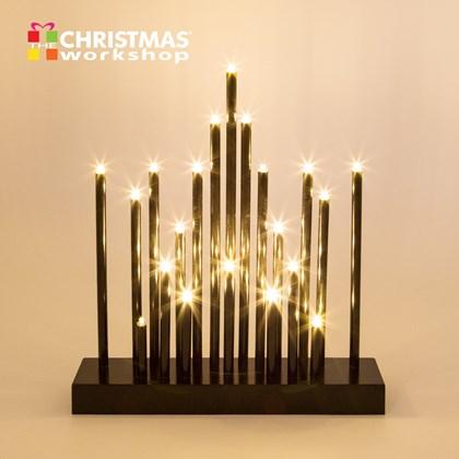 28CM 20 LED Black Star Candle Bridge - Warm White