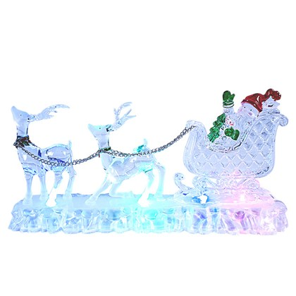 Colour Changing sleigh & reindeer LED