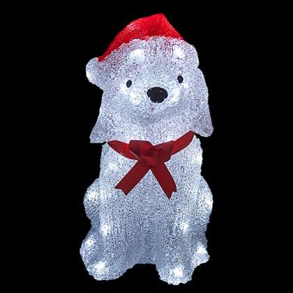 38cm 40L Acrylic Christmas Dog