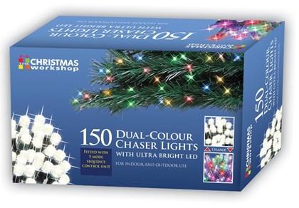 150 LED Dual Chaser Lights-W.White/Multi Coloured
