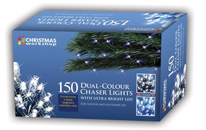 150 LED Dual Chaser Lights-White/Blue