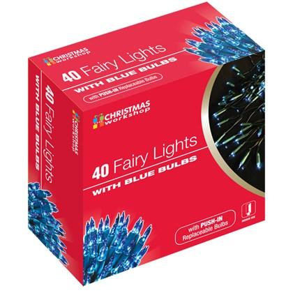 40 Shadeless Blue Fairy Lights