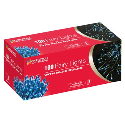 100 Shadeless Blue Fairy Lights