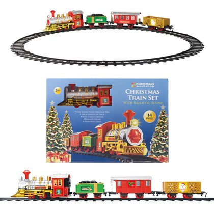 Battery Operated Xmas Train with 3 carriages