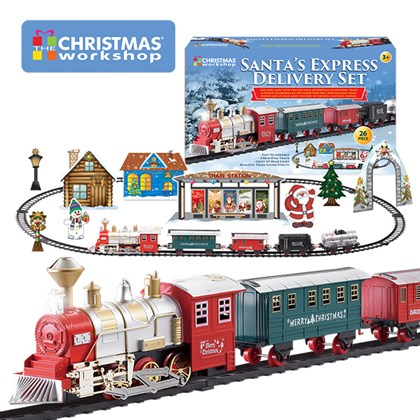 Deluxe Xmas Train -4 Carriages W/Sound/Light