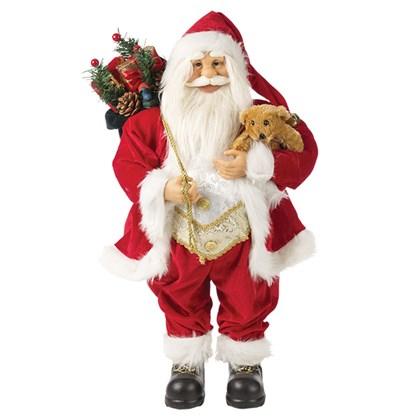 45cm Red Standing Santa