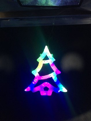 30cm 20LED Colour Window Light -Xmas Tree