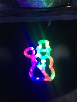 30CM 20LED Colour Window Light - Snowman