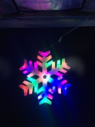 30cm 20 LED Colour Window Light - Snowflake