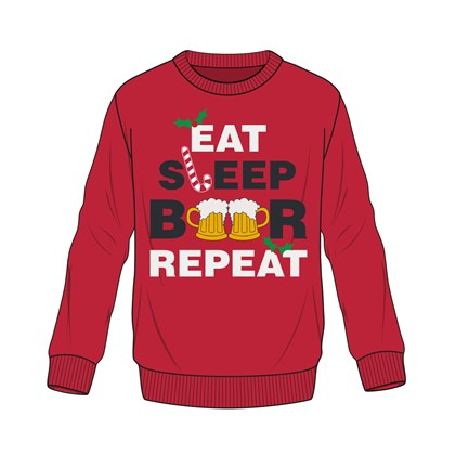 Men Xmas Eat Sleep Beer Repeat Jumper