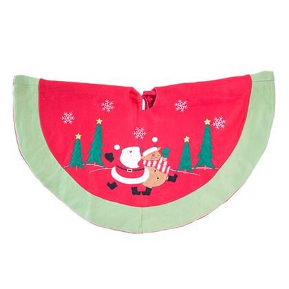Santa & Reindeer Tree Skirt